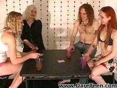 teens losing their clothes at poker game