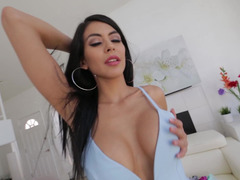 Latina hot broad gets fucked in POV style by dude's long pecker