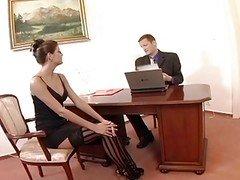 Nerdy Secretary Sex In Thigh Hig