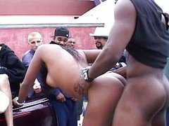 Rapper party vag scratching