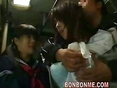 sexually available mom & her daughter fucked by geek on bus 02