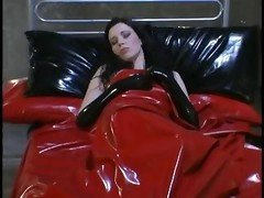 Lesby Latex Feet Strap On
