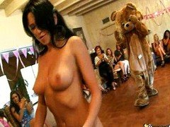 Cum on face at dancing bear party