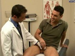 Homosexual doctor doing purple rod sucking & taking a purple rod
