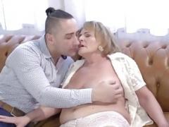 Kinky granny Sally G needs some phallus