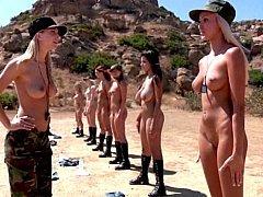 Armádní, Zadek, Velký zadek, Blondýna, Skupina, Lesbické, Nahota