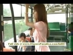 Rio Far eastern teenage Kitten Getting Her Shaggy Cunt Fondled On The Bus
