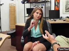 Ivy Rose is desperate that she makes love a sizeable cock for money