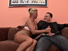Aroused Blonde Cougar Can Never Get Enough Cum cannon!