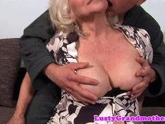 Utterly mature grandma has an intercourse with a young stud