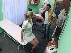 Lascivious nurse prescribes her pussy