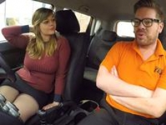 Fake Driving School 34F Tits Bouncing in driving lesson