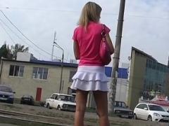 Schoolgirls with uniform upskirt voyeur