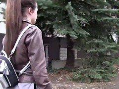 Russian teenage tourist fucks stranger in public