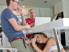 Alexis Adams seduces her boyfriend's less aged brother