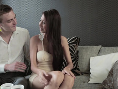 Pleasant girl and gentle lover have unforgettable sexy time