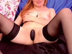 Sexy unshaved dilettante redhead fucked and also inseminated
