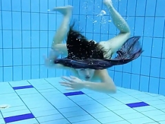 Naughty walk by Adriana underwater