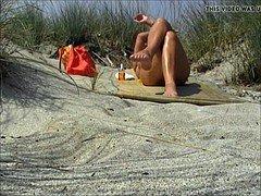 good voyeur female in beach