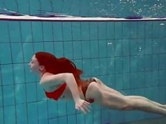 Bouncy ass underwater Katrin