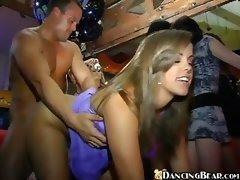 Wacky Group-fuck Action In Club
