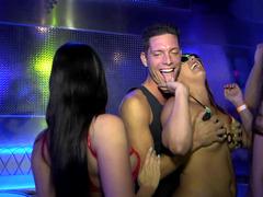 Bikini party in the night club gets hardcore