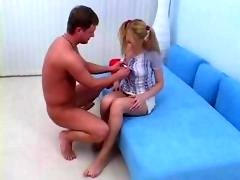 legal teen in pigtails gets rectal creampied