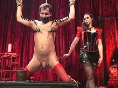 Femdom goddess zippers and anal gets down and dirty sub