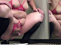prostate milking with black sextoy in the hotel in January-31-2015