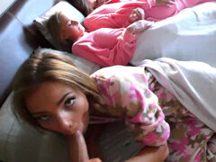 Shyla Ryder & Liza Rowe get dicked by turns on the slumber party