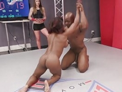 Pumped up babe Kelli Provocateur Loses at Mixed Sex Wrestling