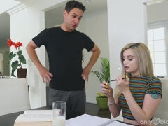 Spoiled teen Lexi Lore - Homework Break