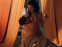 Jaime Murray Bra buddies And Bush In Spartacus Gods Of The Arena