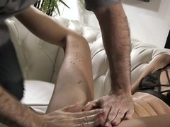 Hot brunette gal is into squirting and fucking