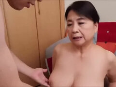 Japanese prurient GILF breathtaking clip