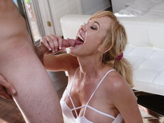 High class bitch Brandi Love uses her neighbor as a human dildo