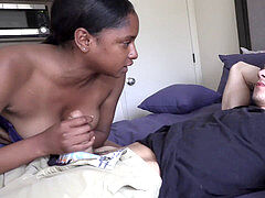 HE was SOOOOO frightened!!! Dude Fucks Homies Girl WHILE he sees! super-naughty!