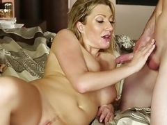 MILFGonzo Hot blonde Jennifer Unmatched fucking her step son