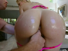Goldie deepthroat cock then gets dominated and fucked on the couch