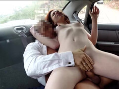 Sexy redhead complaining of a toy stuck deep in her cum craving pussy
