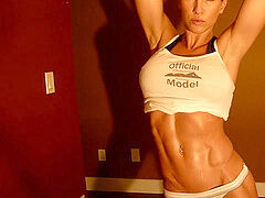Melyssa Buhl's Ab flex. sweat-soaked and handsome