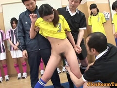 Hot petite asian teen gangbang video