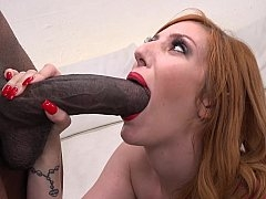 Redhead adult model and additionally a monstrous dick