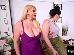 plumper Attorney Angelina Castro strap-on nails Karen Fisher!