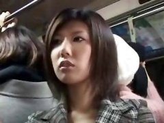Japanese Aroused Chick On The Bus