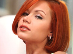 Natural European redhead mom Kami gets naked solo