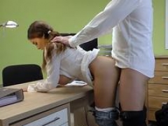 LOAN4K. Agent receives fellatio and titjob so gladly helps hot chick