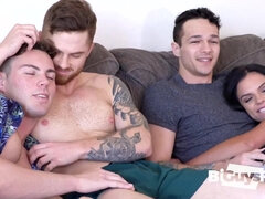 Brian Kush, Jeremy Barker And Skylar Angel - Bisexual threesome