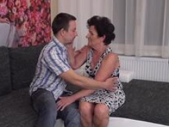 Kinky granny giving head and plus banging