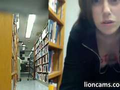 Naughty Latina Masturbates In A Public Library